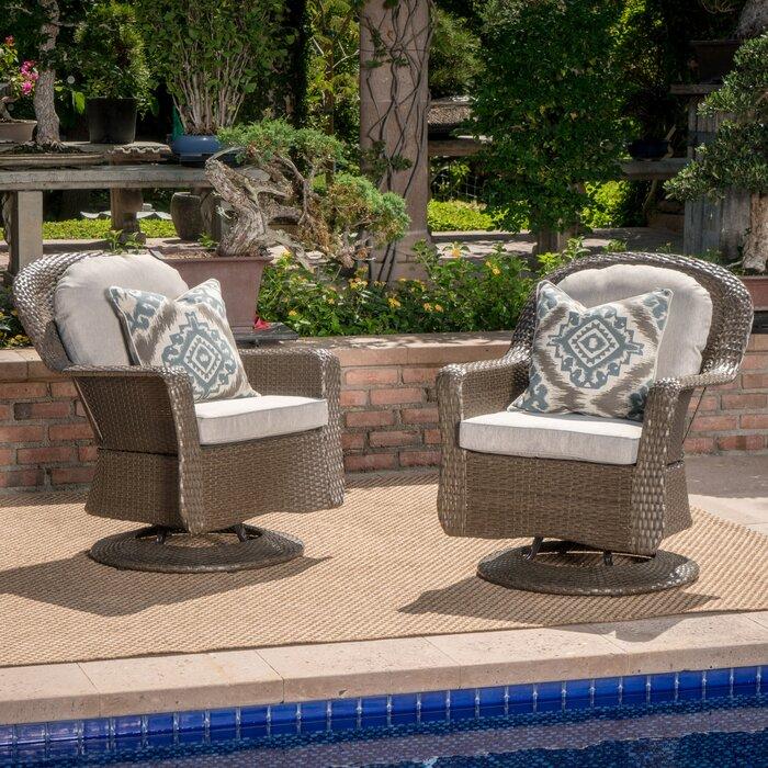 birch lane middletown modern outdoor wicker swivel club patio chair rh wayfair ca