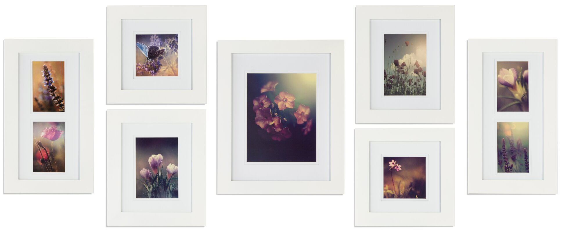 White gallery wall frame sets youll love wayfair save to idea board jeuxipadfo Images