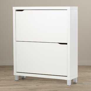 Muoi 12 Pair White Shoe Storage Cabinet