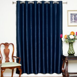 Balderas Nickel Solid Blackout Thermal Grommet Single Curtain Panel