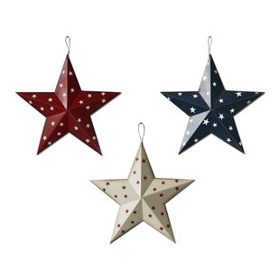 Americana Patriotic Barn Stars Wall Décor Set Of 3