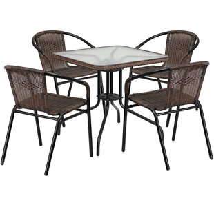 Great buy Adrik 5 Piece Bistro Set Willa Arlo Interiors