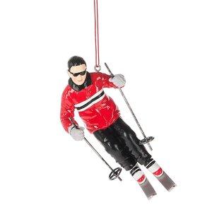 Slalom Skier Hanging Figurine