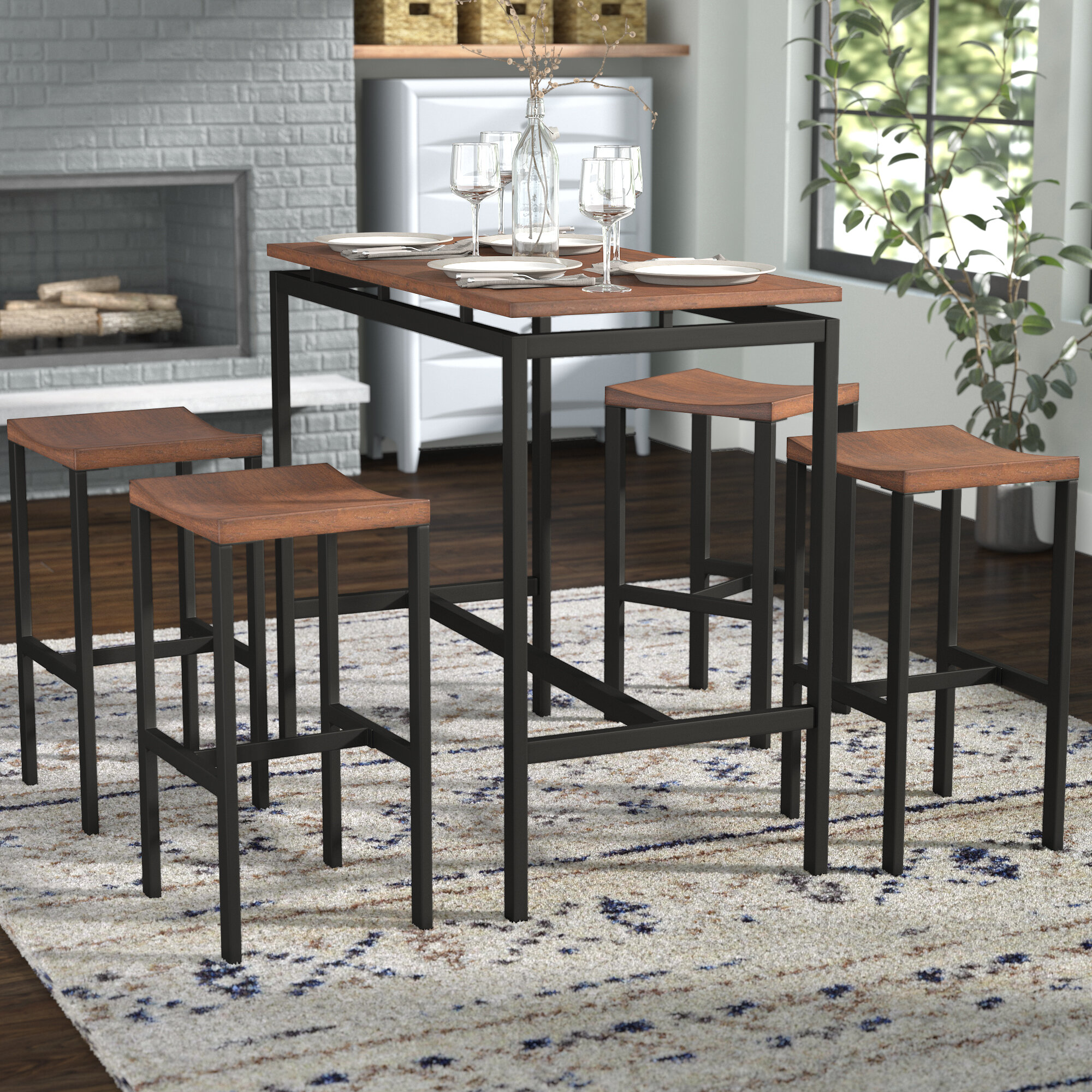 Mercury Row Mcgonigal 5 Piece Pub Table Set Reviews Wayfair