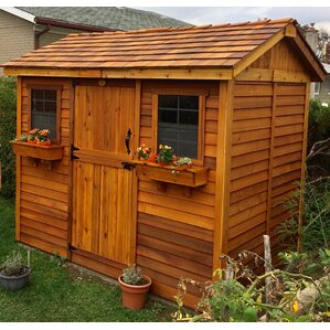 cabana 9 ft 9 in w x 7 ft 5 in d - Garden Sheds 7 X 9