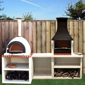 napoli outdoor kitchen combo bbq and wood fired pizza oven