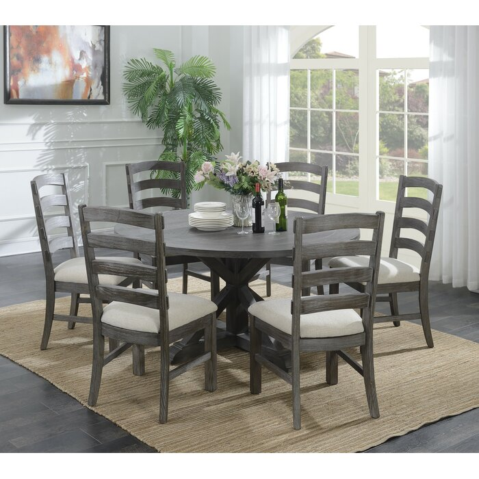 Emerald Home Paladin Rustic Charcoal Grey 60 Round Dining Table With Top And