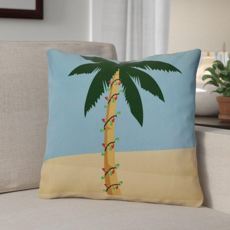 The Holiday Aisle Decorative Christmas Print Outdoor Throw Pillow & Reviews   Wayfair