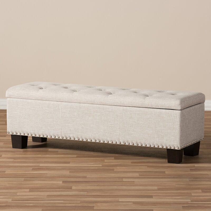 Merveilleux Back Bay Upholstered Storage Bench