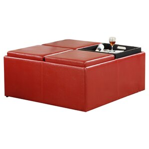 Pinkley Storage Cocktail Ottoman by Mercury ..