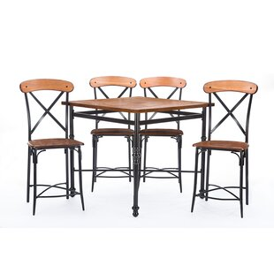 Mchaney 5 Piece Pub Table Set