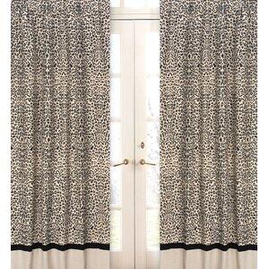 Safari Animal print Semi-Sheer Rod Pocket Curtain Panels (Set of 2)