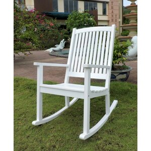 Bristol Acacia High-Back Rocking Chair