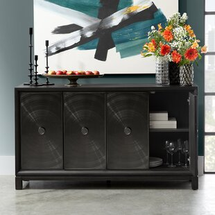 Hyacinth Four Door Spun Metal Credenza