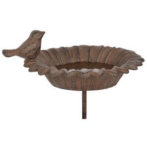 Bird Bath in Brown