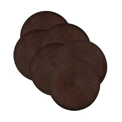 Birch Lane™ Heritage Round Braided Placemats Color: Chocolate