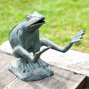 Leaping Garden Frog Statue