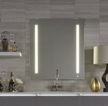 Amazing AiO Lighted Bathroom/Vanity Mirror With LUM Lighting, USB Charging Ports