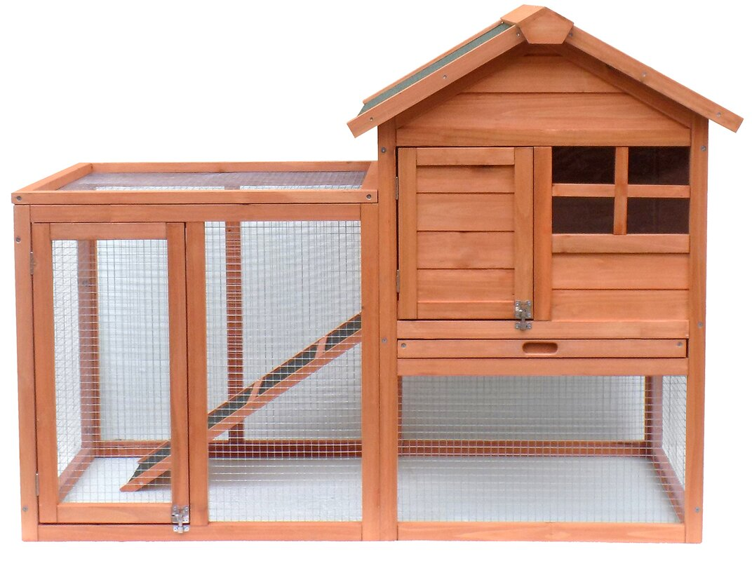 Rabbit hutch ware large rabbit hutch 4ft double height for Wooden rabbit hutch plans