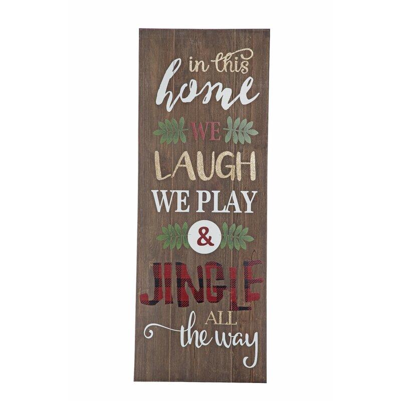 wood christmas words sign wall dcor
