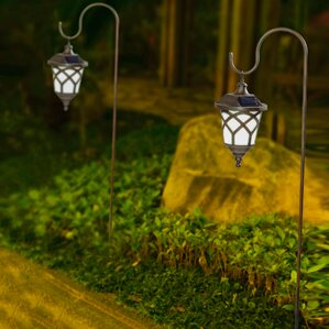 hanging solar 1light pathway light set of 2 - Solar Pathway Lights