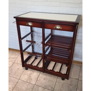 Oaken Wood Kitchen Trolley Bar Cart by JA Marketing