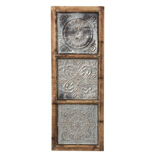 Punched Metal Vertical Wall Décor