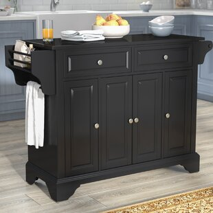 Hedon Kitchen Island with Granite Top