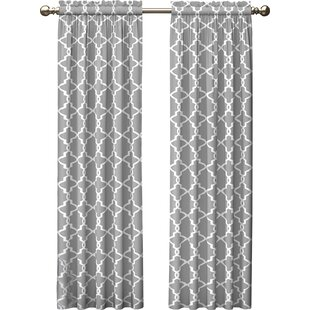 gray and white curtains Light Gray Curtains | Wayfair gray and white curtains