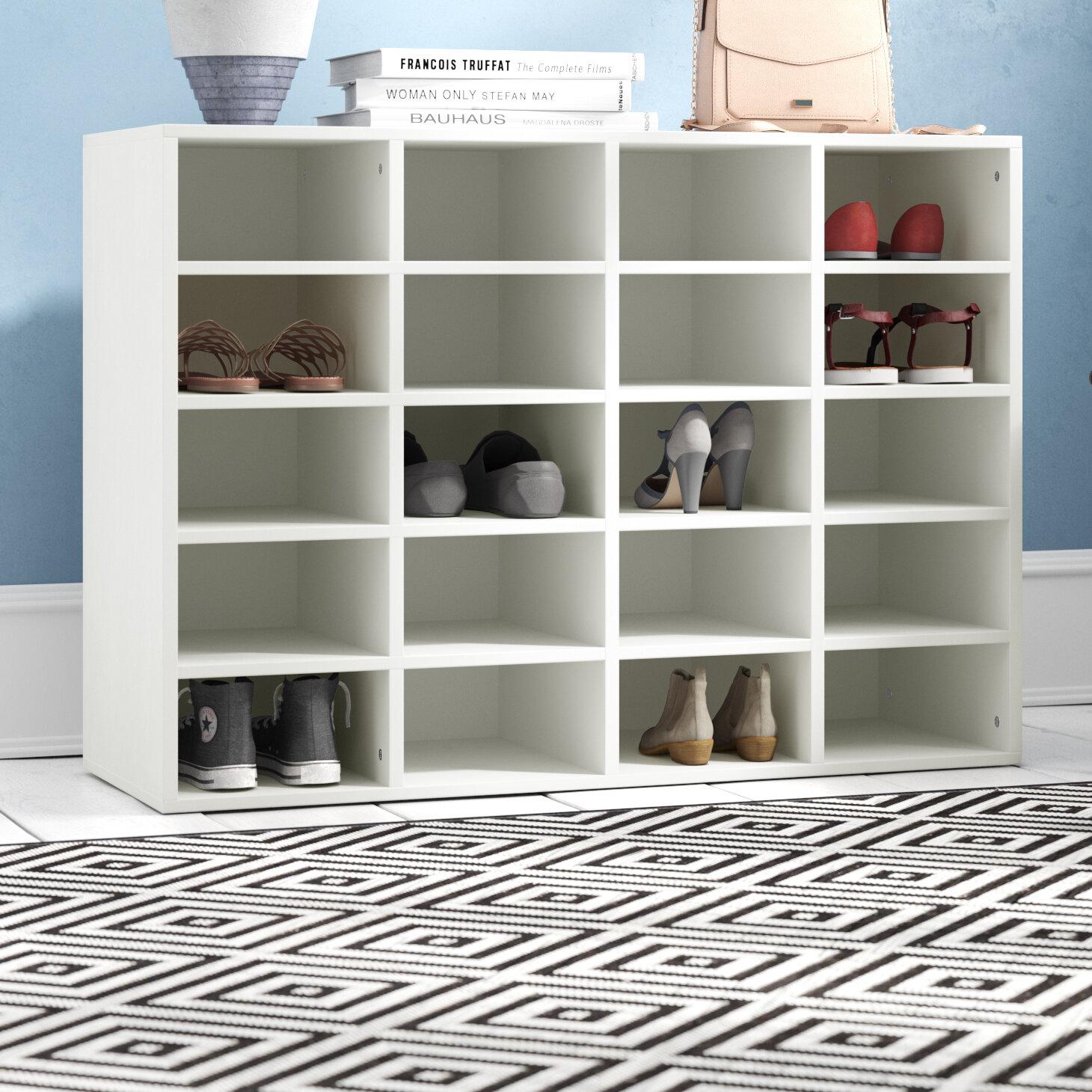 Symple Stuff Martha Shoe Rack With 20 Compartments Reviews Wayfair Co Uk