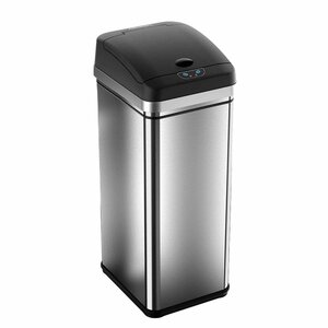 Stainless Steel 13 Gallon Motion Sensor Trash Can