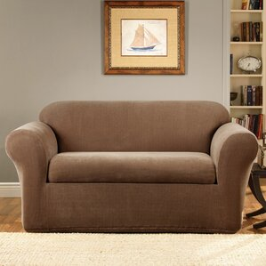 Stretch Metro Box Cushion Loveseat Slipcover..