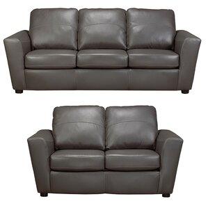 Coja Delta Leather 2 Piece Living Room Set Image
