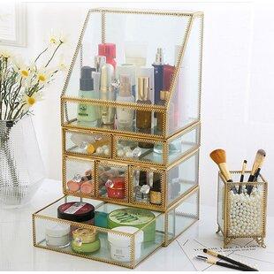 8822d0a7e7f4 Condon Glass with Brass Makeup Organizer. by Mercer41.  138.99 199.99. 5
