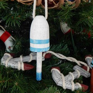 Vintage Decorative Lobster Trap Buoy Christmas Tree Ornament