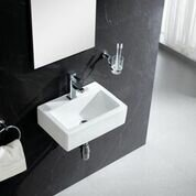 modern bathroom sinks. Modern Ceramic 17  Wall Mount Bathroom Sink Sinks AllModern