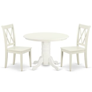 Kopec 3 Piece Solid Wood Dining Set
