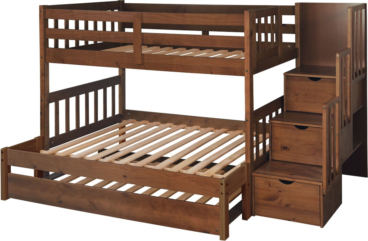 just cabinets wyatt twin over full bunk bed with trundle. Black Bedroom Furniture Sets. Home Design Ideas