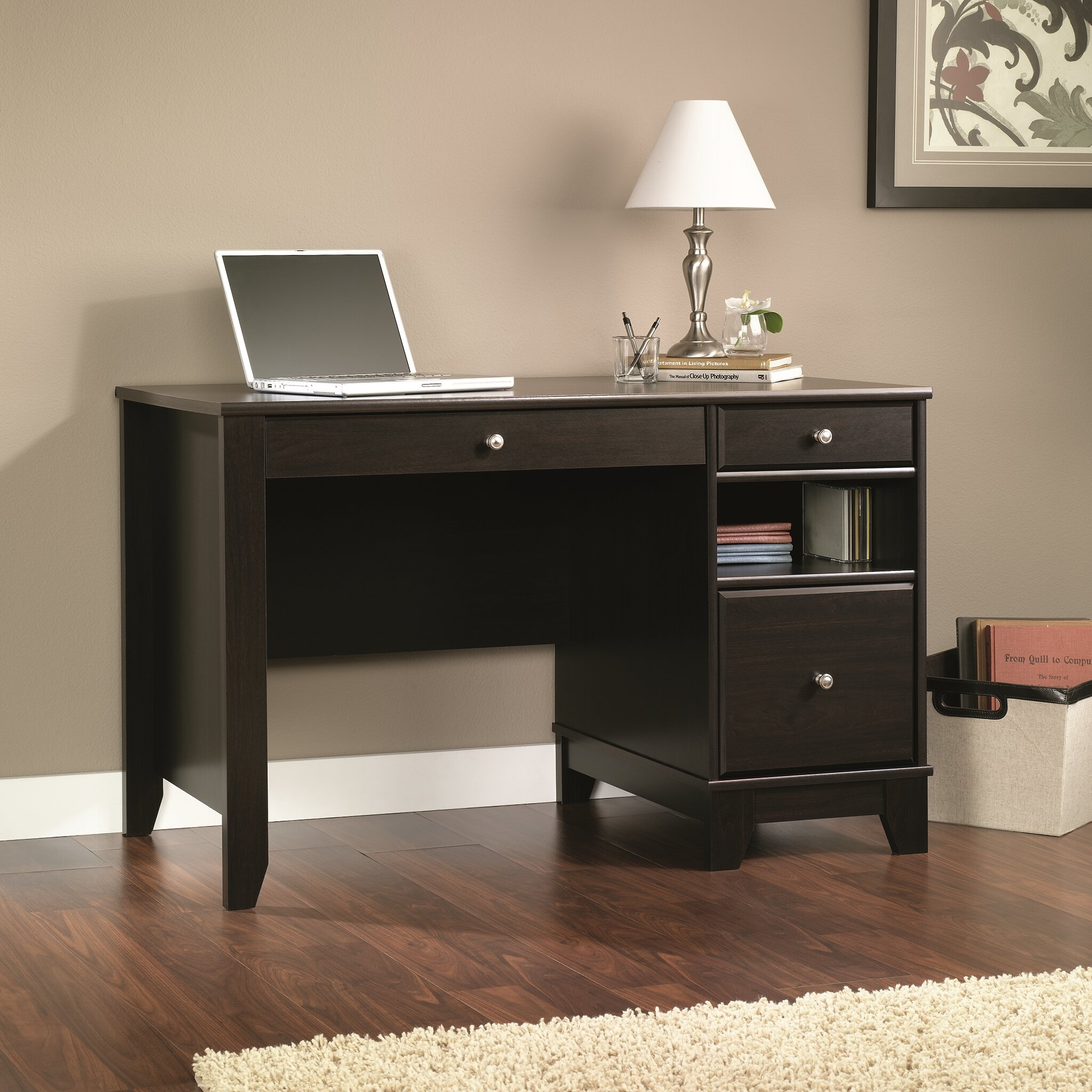 drawer newdale locking furniture desk computer loon with pdx peak