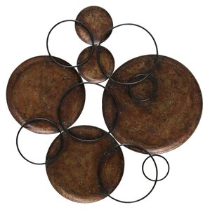 Metal Circle Wall Decor copper metal wall art you'll love | wayfair