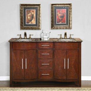 Adella 58 Double Bathroom Vanity Set