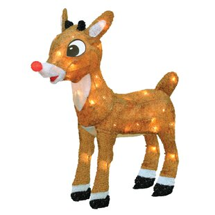 rudolph the red nosed reindeer christmas decoration with lights - Rudolph Christmas Decorations
