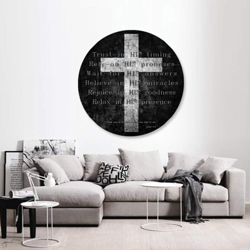 Trust In Him Textual Art Print On Acrylic Amp Reviews