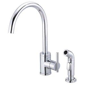 Danze? Parma Single Handle Deck Mount Kitchen Faucet with Spray