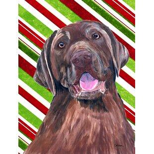 62c3c561f70a1 Labrador Candy Cane Holiday Christmas 2-Sided Garden Flag