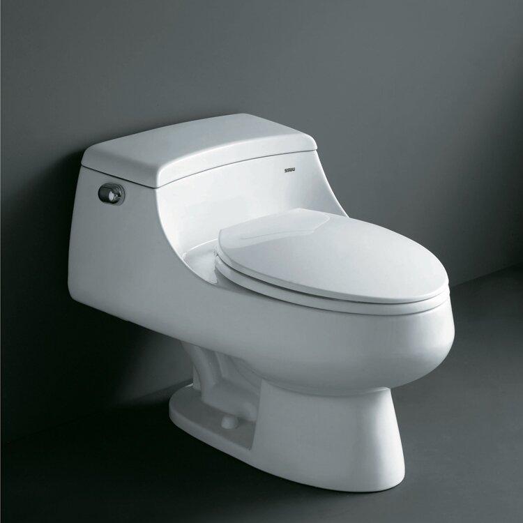 Ariel Bath Royal Celeste 1.6 GPF Elongated One-Piece Toilet ...