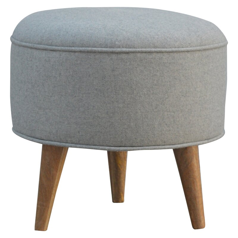 Hazelwood Home Upholstered Round Ottoman & Reviews