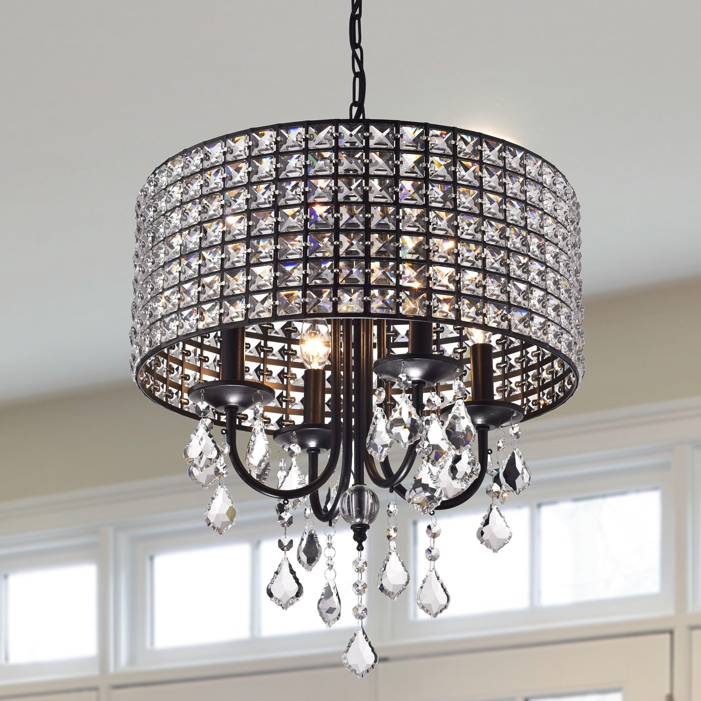Willa arlo interiors albano 4 light crystal chandelier reviews wayfair