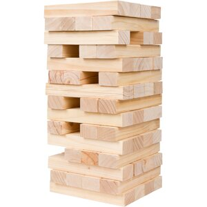 60 Piece Giant Wooden Stacking Tumble Tower Game