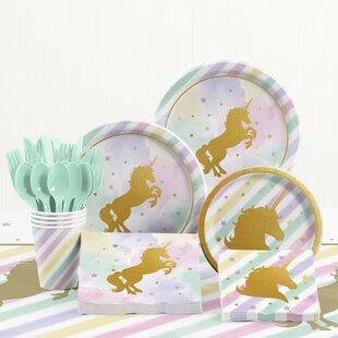 81 Piece Unicorn Birthday Party Supplies Set